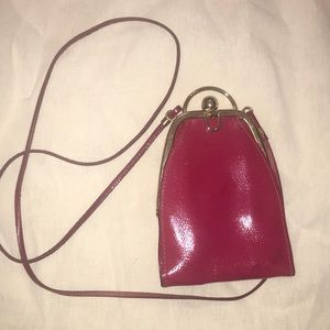 Nordstrom made in Italy crossbody clutch pink gold